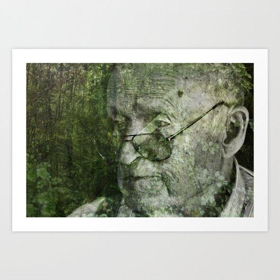 une vieille forêt Art Print