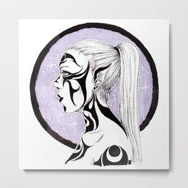 Tribal Warrior Metal Print