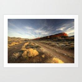 Westbound Freight  Art Print