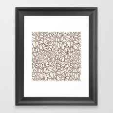 Hearts clear Framed Art Print