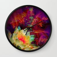 astrology Wall Clocks featuring Astrology by shiva camille