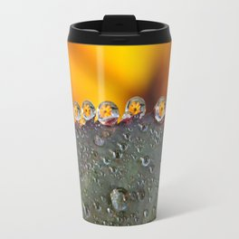 Dew Drop Flower Travel Mug
