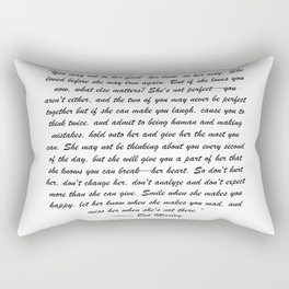 You may not be her first, her last, or her only - Marley quote Rectangular Pillow