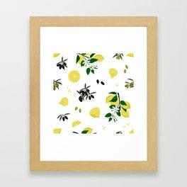 Lemons and olives - 2 Framed Art Print