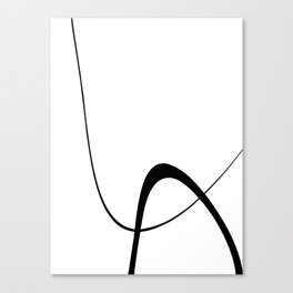 Interlocking Two B Canvas Print