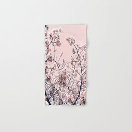 Pink Spring Flowers Hand & Bath Towel
