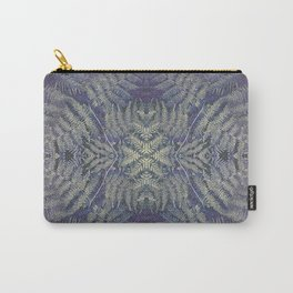 SYMMETRICAL PASTEL PURPLE BRACKEN FERN MANDALA Carry-All Pouch