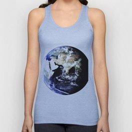 Earth Globe Unisex Tank Top