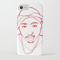 tupac iPhone & iPod Cases featuring Tupac no. 1 by Colin Douglas Gray