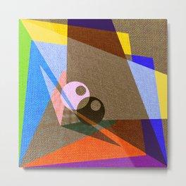 geometric eyes Metal Print