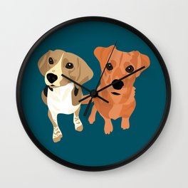 Cleo and Ginger Wall Clock