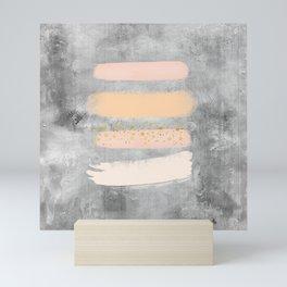 Pastel Stripes on Concrete Mini Art Print