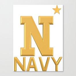 Navy Star Gold Logo Canvas Print