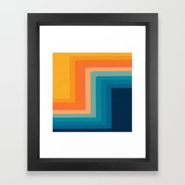 Retro 70s Color Lines Framed Art Print
