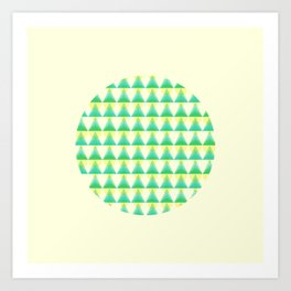 Trees and Lights Pattern Art Print