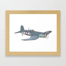 Corsair WWII Airplane Framed Art Print