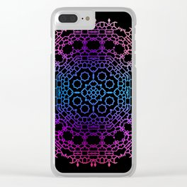 Mandala 1 Clear iPhone Case
