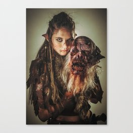 Nessa and her Trophy Canvas Print
