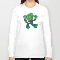 freddy krueger Long Sleeve T-shirts featuring Gumby Krueger by Artistic Dyslexia