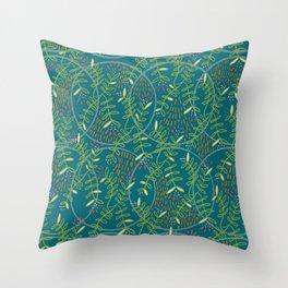 Whimsical Secret Garden Throw Pillow