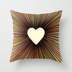 heart radiant color Throw Pillow
