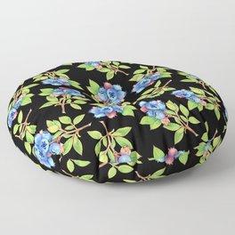 Wild Blueberry Sprigs Floor Pillow