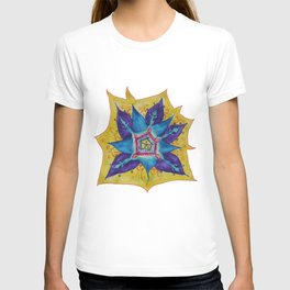 Star Mandala Hand Painet Energy T-shirt