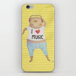 Music Bear iPhone Skin