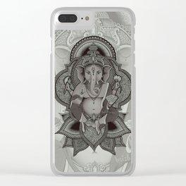 Ganesha - white Clear iPhone Case