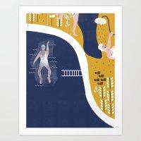 pool Art Prints featuring POOL by Michela Buttignol