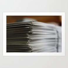 Stack of Cards Art Print