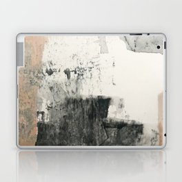 Peace and Quiet [1]: a pretty, minimal abstract piece in gray and peach by Alyssa Hamilton Art Laptop & iPad Skin
