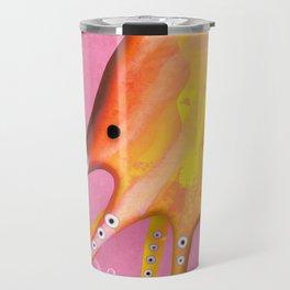 Octopus Orange Pink Ocean Travel Mug