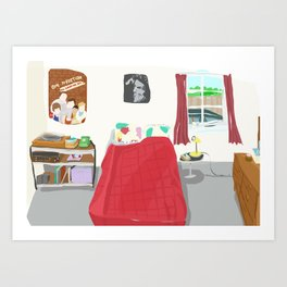 My Sister's Bedroom Art Print