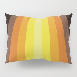 Retro Warm Tone 70's Stripes Pillow Sham