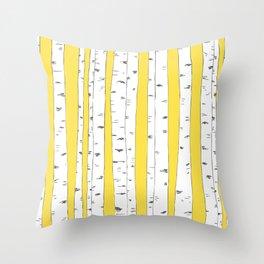 Aspen Forest - Yellow Throw Pillow