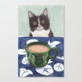 Coffee with Henry #4 Canvas Print