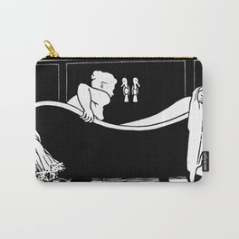 The Bath - Le Bain by Félix Vallotton - Retro Vintage Woodblock Painting Carry-All Pouch