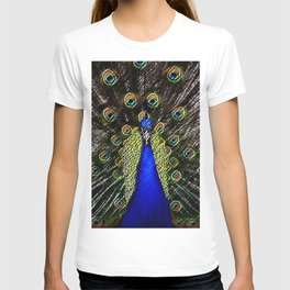 Jeweled Peacock Portrait Painting by Jeanpaul Ferro T-shirt