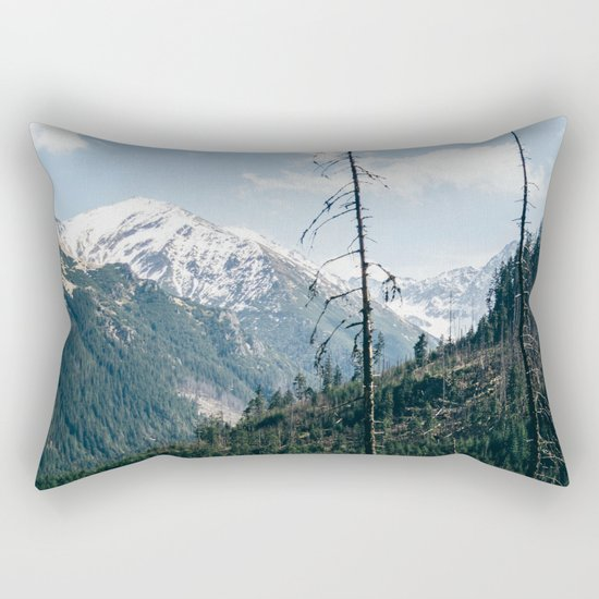 Mountains and Forest Landscape Rectangular Pillow