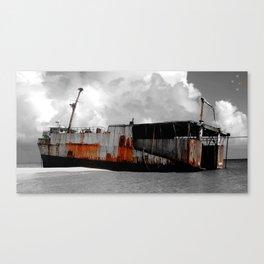 Grand Turk Shipwreck Canvas Print