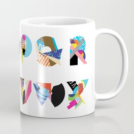 AMP Noise collage alphabet (white poster) Coffee Mug