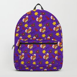Hammy Pattern in Dark Purple Backpack