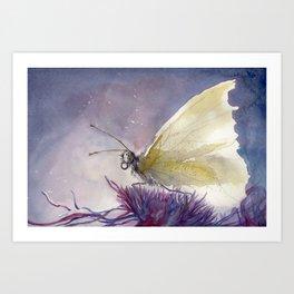 Dancing With Moonlit Wings Art Print