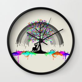Melting Colors Parasite Wall Clock