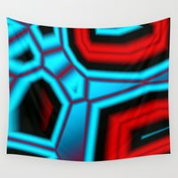 pain Wall Tapestries featuring pain 3 by Christy Leigh