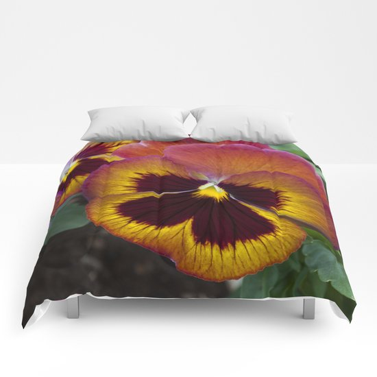 Pansy Painted Comforters