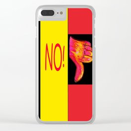 Thumbs Down NO! Clear iPhone Case
