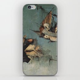 Hieronymus Bosch flying ships and creatures iPhone Skin