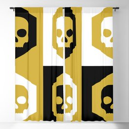Honey Skulls Duality V3 Blackout Curtain